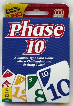 Phase 10 Card Game - A Rummy Type Game With A Twist #Mattel