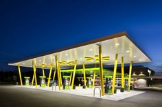 Walmart's new convenience store prototype, designed by api(+), offers an untraditional mix of grocery items, fresh prepared foods and traditional convenience store products.