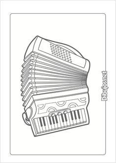 10 Dibujos de Instrumentos Musicales para imprimir y colorear - Dibujos.net