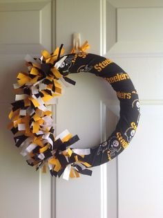 Pittsburgh Steelers wreath by LoveHangingAround on Etsy, $22.00