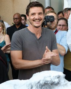 Pedro Pascal Photos - Actor Pedro Pascal attends day 1 of the WIRED Cafe @ Comic Con at Omni Hotel on July 2014 in San Diego, California. - Wired Care at Comic-Con Diego Luna, San Diego, Jenner Sisters, Versace Men, Downey Junior, Celebrity Crush, Celebrity Style, Facial Hair, Mustache