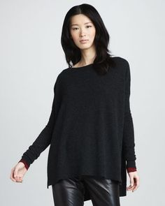 Loose Boat-Neck Sweater by Vince at Neiman Marcus.