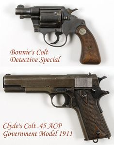 Would you like to own guns carried by America's most infamous criminal couple? Well here's your chance -- the personal handguns of Clyde Barrow and Bonnie Parker (Bonnie and Clyde), go up for auction in September, along with other personal memorabilia. Bonnie And Clyde Tattoo, Bonnie And Clyde Musical, Bonnie And Clyde Quotes, Bonnie And Clyde Death, Famous Outlaws, Crime, Bonnie Parker, Burn It Down, Couple Tattoos