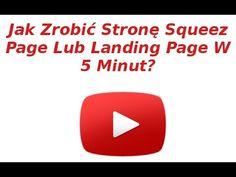 Jak szybko zrobić (stronę przechwytującą)  squeeze page, landing page?