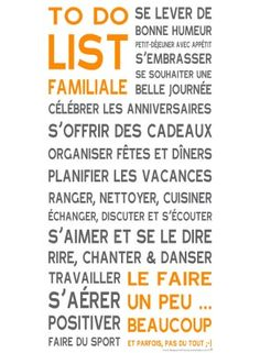 To do list familiale ...