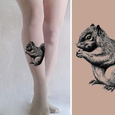 SQUIRREL Tights size S / M / L / XL full length by TightsShop