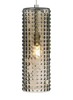 Opal or Transparent glass shade with a half-spherical matrix pattern.