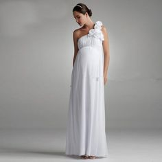 14bc16e91beb Simple Bohemian Maternity Bridal Dress One Shoulder Chiffon Plus Size Beach Wedding  Dresses For Pregnant Women 2016-in Wedding Dresses from Weddings ...