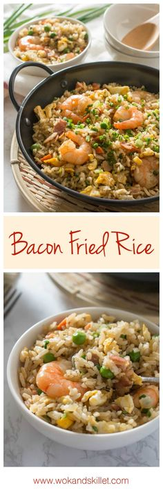 Bacon Fried Rice - A step-by-step guide by Wok & Skillet