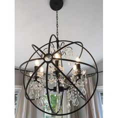 LightUpMyHome 24 Inch Iron Orb Sphere Crystal Chandelier & Reviews | Wayfair.ca