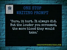 Ooo, I love this! Opened up a whole can of ideas. (One Stop For Writers Dark Writing Prompt) #writing