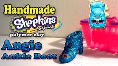 Season 2 Shopkins: How To Make Angie Ankle Boot Polymer Clay Tutorial!