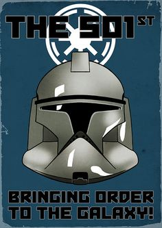 Star Wars - THE 501st! Republic Clonetrooper poster (A4 colour art print) by Mygrimmbrother on Etsy