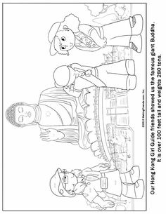 Hong Kong Girl Guide Coloring Page. Print out for your Girl Scout Troop! For more Girl Scout Thinking Day Ideas go to Makingfriends.com