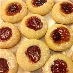My version is w strawberry, see pic above....Apricot Cream Cheese Thumbprints Allrecipes.com