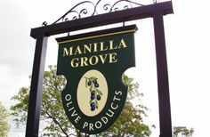 Danthonia Designs designed and fabricated this attractive sign for Manilla Grove with hand its painted olives. Business Signs, Business Ideas, Salon Signs, Outdoor Signage, Office Signs, Halloween Carnival, Signage Design, Door Signs, Store Design