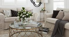 Hamptons-style living room makeover