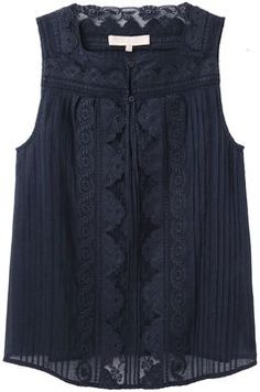 ShopStyle: Vanessa Bruno / Lace Sleeveless Top