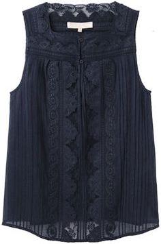 ShopStyle: Vanessa Bruno / Lace Sleeveless Top