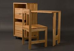 Uruguayan industrial designer Claudio Sibille has created Ludovico, a concept that is a clever as it is simple. Two chairs are placed inside the cabinet in determined areas that fit exactly with the lines of the chairs, maintaining at the same time four drawers of considerable volume. When closed, the chairs seem hidden and give …