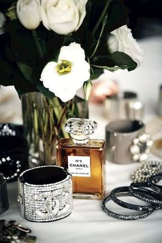 Chanel - looks like my vanity since I was 16, and got my first bottle of #5. ~ETS
