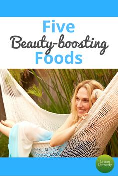 5 Beauty-Boosting Foods.  Nutrition can help you get your skin red-carpet ready. Cut out gluten, dairy, and processed sugar, and add these ingredients to boost your spirits and make your skin glow! | Academy Awards Beauty | Oscars Beauty Tips | Natural Beauty Tips | Nutrition Tips | Healing Foods | Foods for Better Skin| Detoxifying Foods