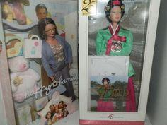 mis barbies en cajas: la barbie abuela y la princesa de la corte de corea del norte