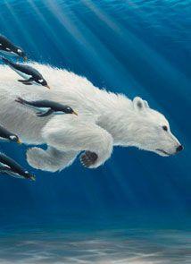 Contemporary fine art and prints Polar Bear Paint, Cute Polar Bear, Polar Bears, Bear Character, Bear Drawing, Bear Cartoon, Bear Art, Cute Animal Pictures, Whimsical Art