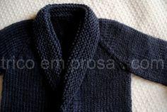 trico em prosa.com - Receita traduzida do Cardigã Baby Sophisticate de Linden Heflin