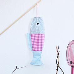Image of Koinobori mobile poisson tissu vichy