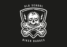 Check out Old School Biker Badges and Elements by hwgraphics on Creative Market
