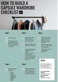 Capsule Wardrobe How To Build A, Capsule Wardrobe Women, Capsule Outfits, Fashion Capsule, Wardrobe Basics, Travel Outfits, Work Wardrobe, Minimal Wardrobe, Organizing