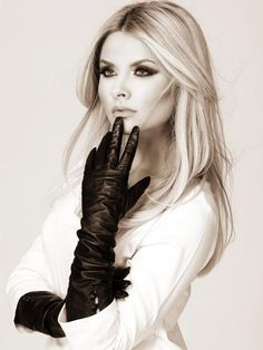 Donna nero Angies Glamour Fashion Guanti