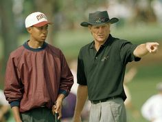 Young Tiger and Greg Norman...wish both could play at The Masters.