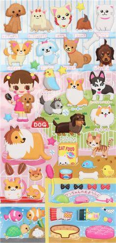 cute pet shop sponge sticker from Japan 2