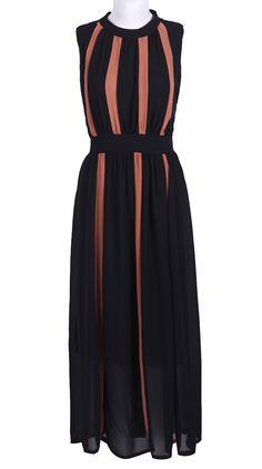 Black Sleeveless Bandeau Pleated Chiffon Dress // peek of colour Pretty Outfits, Pretty Dresses, Beautiful Dresses, Dress Outfits, Dress Up, Fashion Outfits, Womens Fashion, Dream Dress, Chiffon Dress