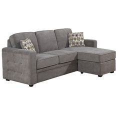 love this compact gray sectional sofa