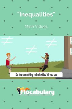 Flocabulary's educational hip-hop video and lesson resources will guide you in solving inequalities and graphing inequalities on a number line. Math Teacher, Teaching Math, Number Talks, 7th Grade Math, Algebra 1, Elementary Math, Math Lessons, Math Activities, Middle School