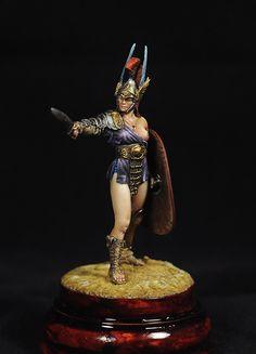 Roman Gladiator Amazon with Falcata