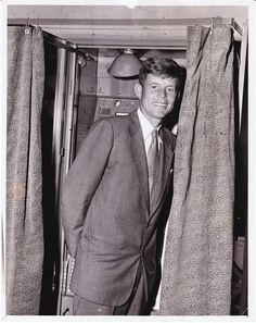 Congressman John F. Kennedy 1948 Voting Booth Original News-Service Photograph