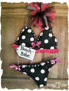 Sassy Beach Babe Bikini by SassyFrassOriginals on Etsy