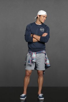 Put a preppy spin on grunge with this abercrombie look. Outfits Casual, Style Casual, Sporty Style, Preppy Style, Fashion Outfits, Teen Boy Fashion, Preppy Mens Fashion, Fashion Moda, Sporty Fashion