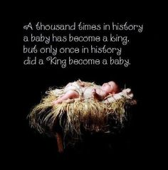 A King became a baby only once in history