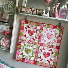 4-Patch Heart Mini Quilt Tutorial