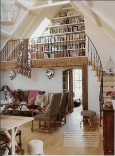 loft library/reading room - maybe i can convince mike