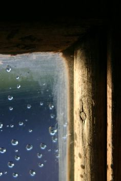 Watching raindrops through a window...