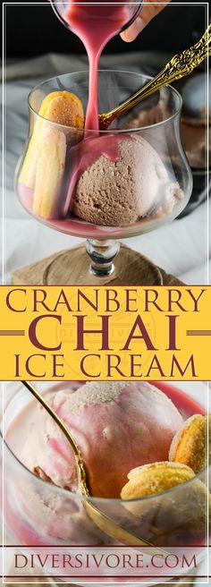 Cranberry-Chai Ice Cream and Affogato - A delightful and spice-forward ice cream with a tangy twist - #sponsored by BC Egg #icecream #chai #cranberry Kinds Of Desserts, Fun Desserts, Dessert Recipes, Affogato, Cranberry Recipes, Cranberry Juice, Real Food Recipes, Great Recipes, Yummy Food