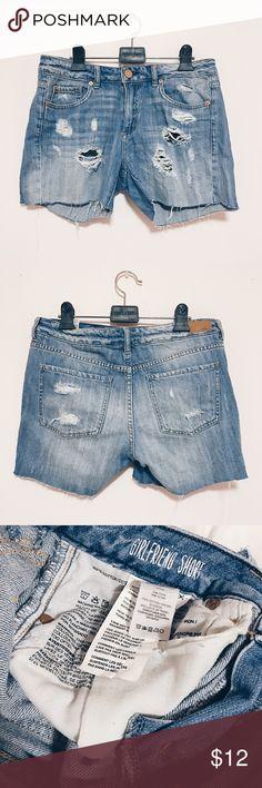 Girlfriend destroyed Denim shorts Girlfriend destroyed Denim shorts // Size: medium // 100% cotton Garage Shorts Jean Shorts