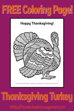 Welcome back to Free Printable Friday! After you download our Turkey Coloring Page - make sure you go look at the awesome otherFree Printable Friday posts