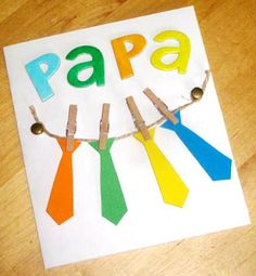 father day tie card template printable